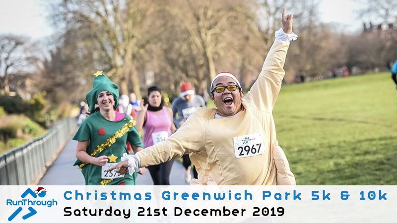 Christmas Run Park.Christmas Greenwich Park 5k 10k December 2019