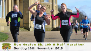 RUN HEATON 5K 10K HALF MARATHON NOVEMBER 2019