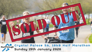 CRYSTAL PALACE 5K 10K & HALF MARATHON JANUARY 2020