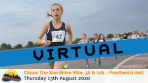 Virtual – Leicestershire Chase The Sun 5k & 10k August 2020