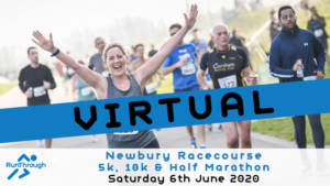 VIRTUAL – Newbury Racecourse 5k, 10k & Half Marathon – June 2020