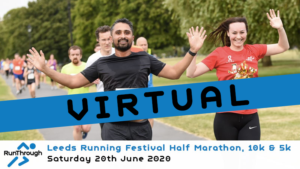 VIRTUAL – Leeds Running Festival Half Marathon, 10k & 5k